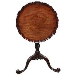 George III Piecrust Vogelkäfig Klapp Tisch
