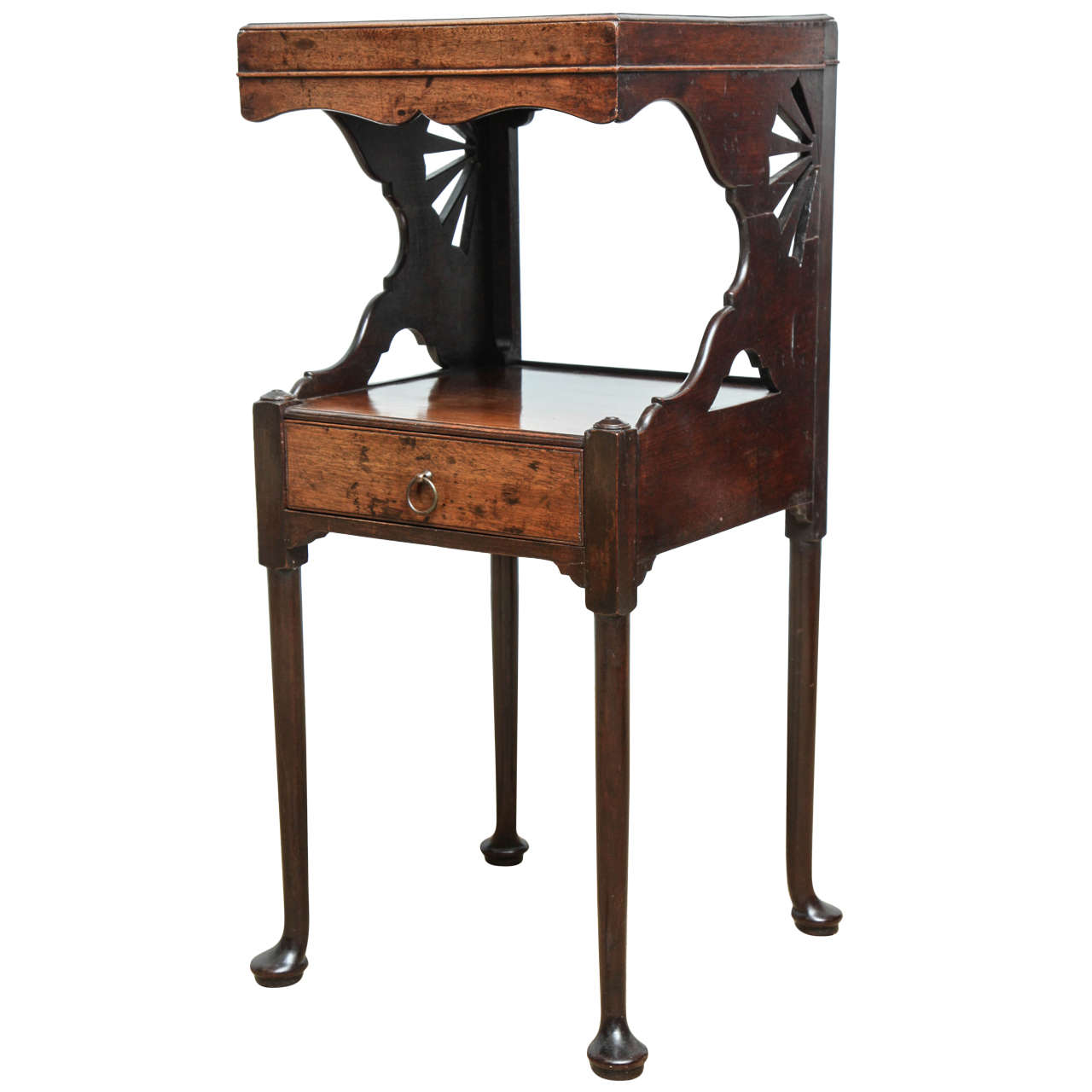 most unusual english or scottish georgian bedside table at 1stdibs