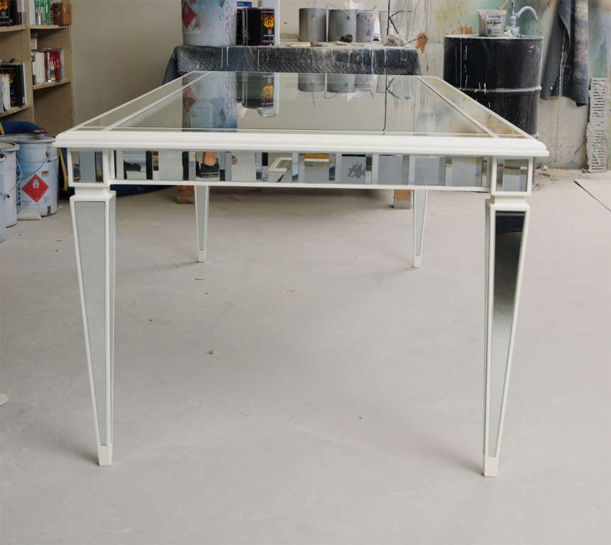 Contemporary Dining Mirror Table For Sale