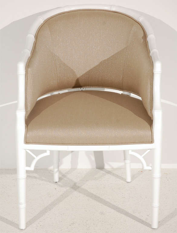 Set of Four Faux Bamboo Tub Chairs by Monteverdi-Young at 1stdibs