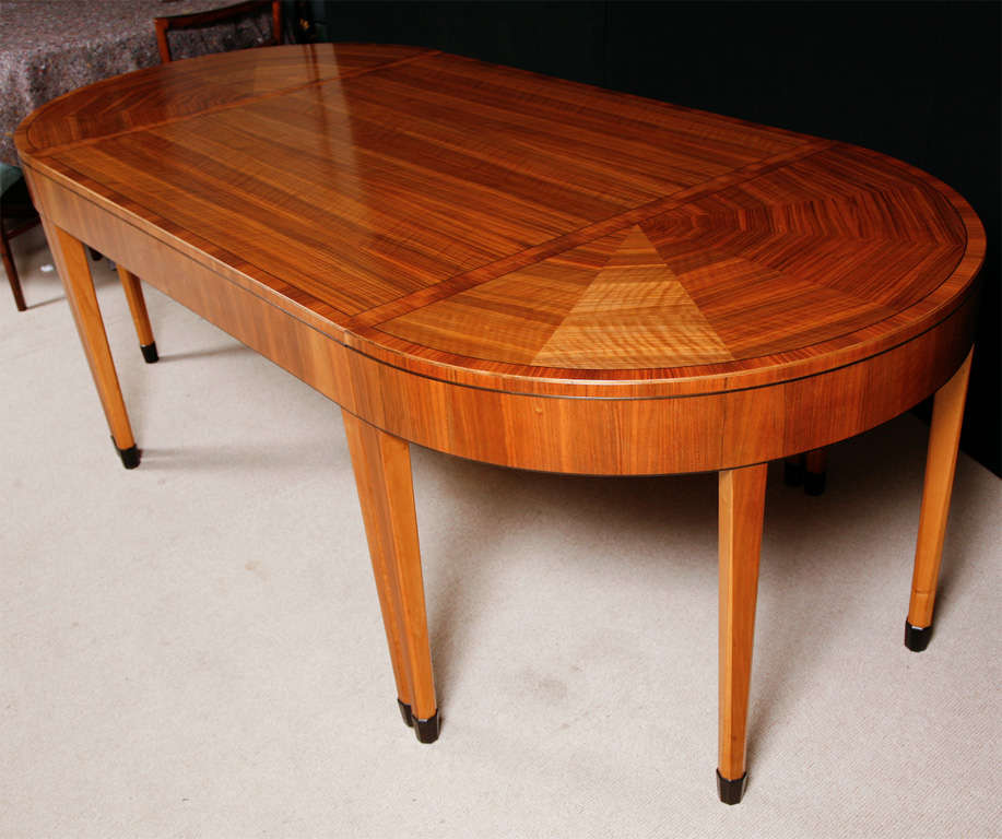 A Rare Art Deco Walnut Dining Table By Heals At 1stdibs