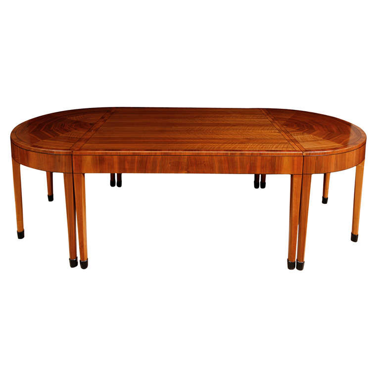 A rare art deco walnut dining table by heals at 1stdibs - Heals dining table ...