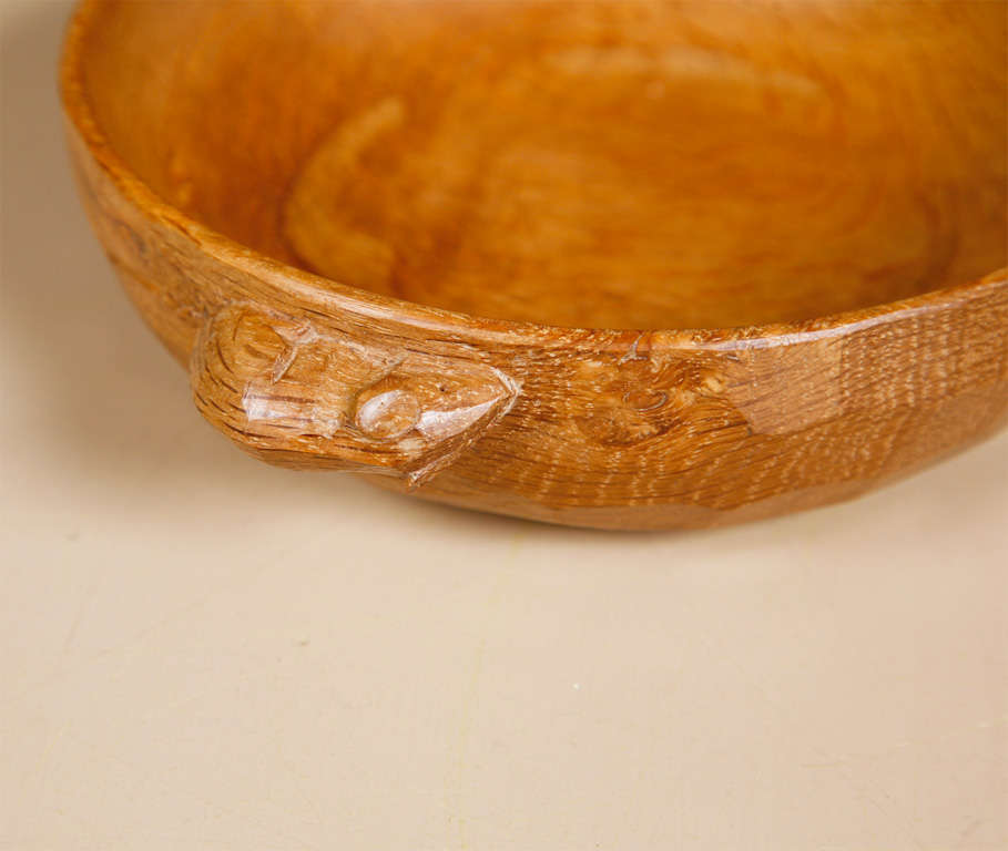 "An Oak Nut Bowl by Robert ""Mouseman"" Thompson 2"