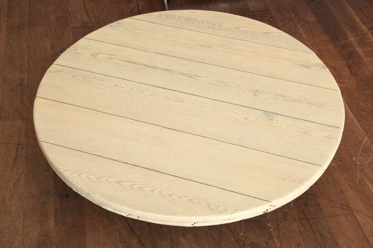 Iron Base Round Coffee Table At 1stdibs