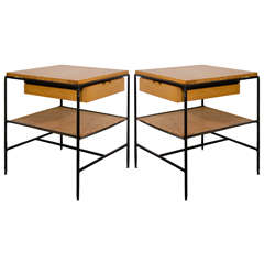 Midcentury Pair of End Tables by Paul McCobb