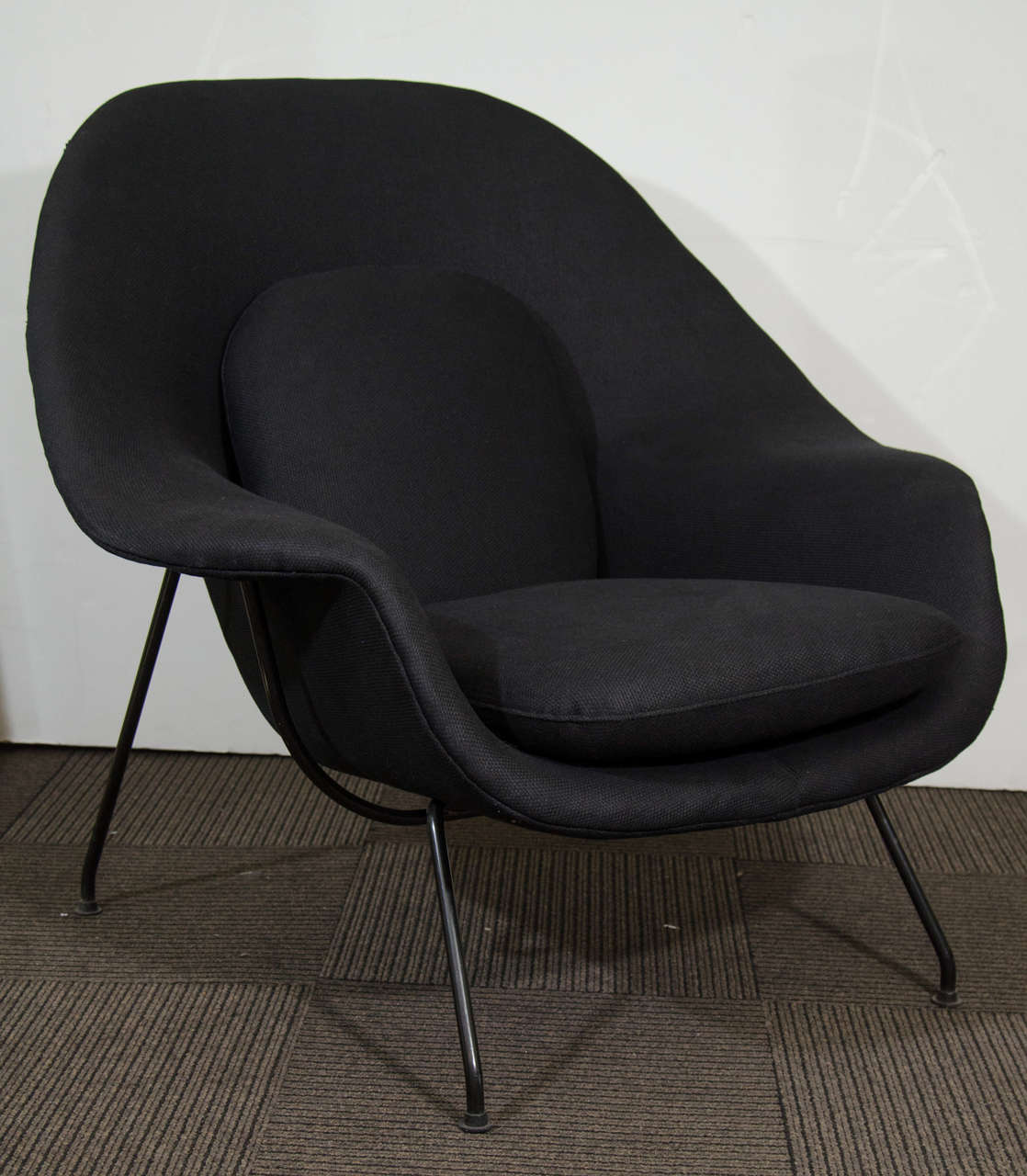 midcentury womb chair and ottoman by eero saarinen for knoll 3 - Womb Chair