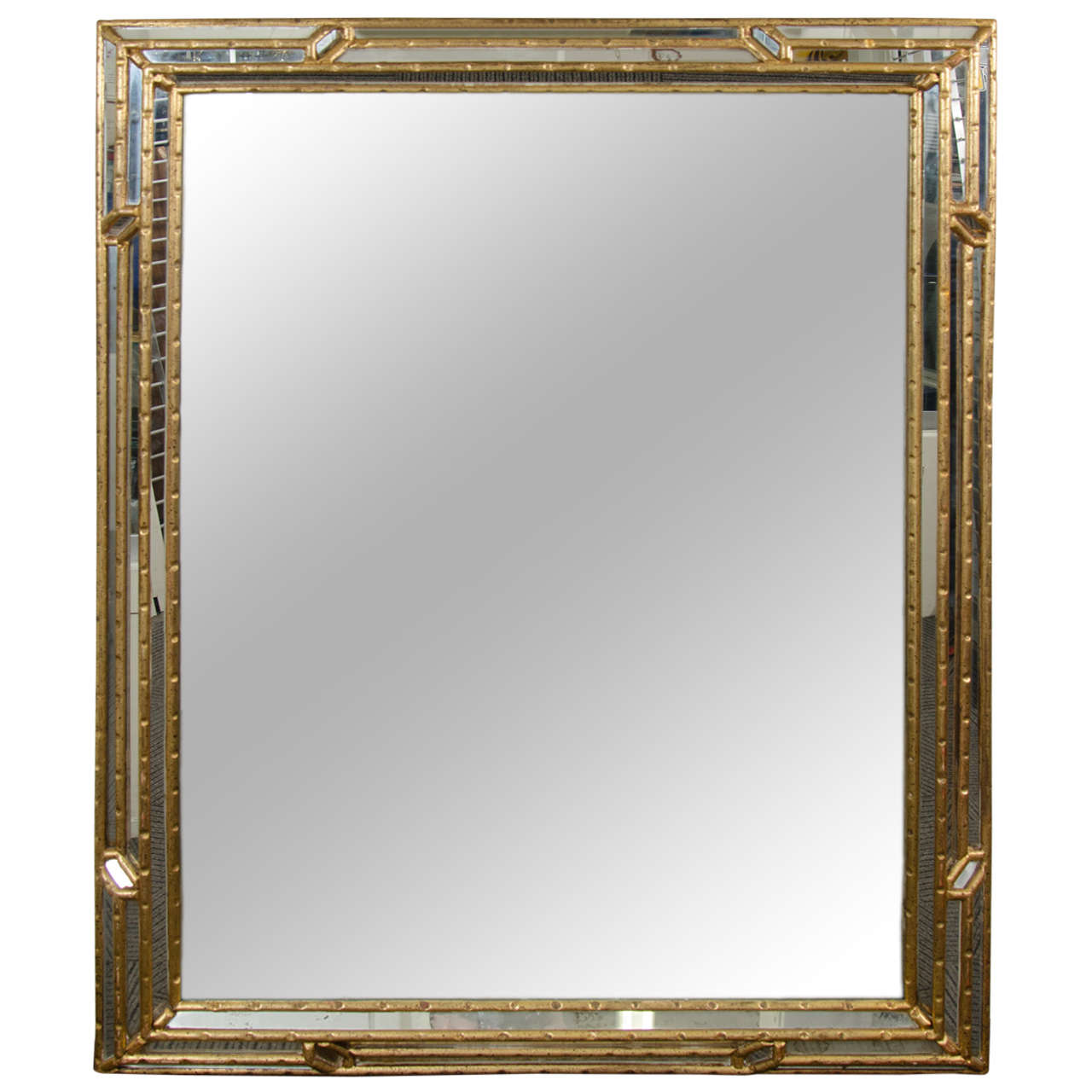 bamboo framed mirror images