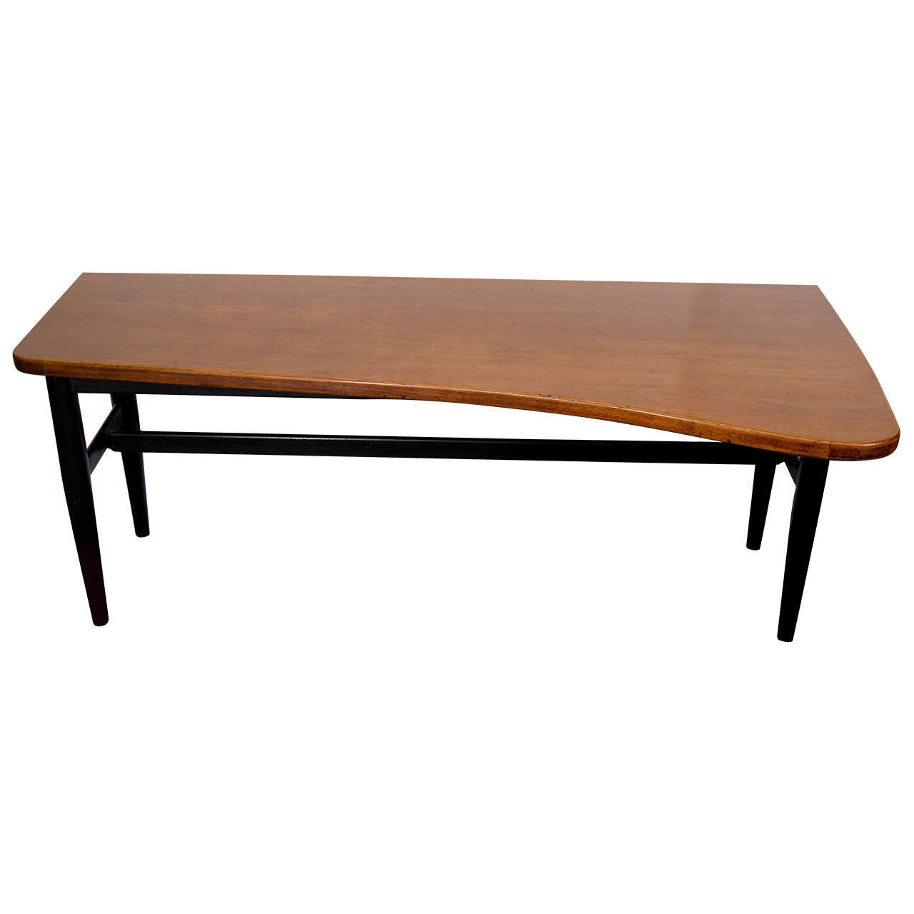 Midcentury Asymmetrical Drop Leaf Wooden Coffee Or Cocktail Table By Baker At 1stdibs