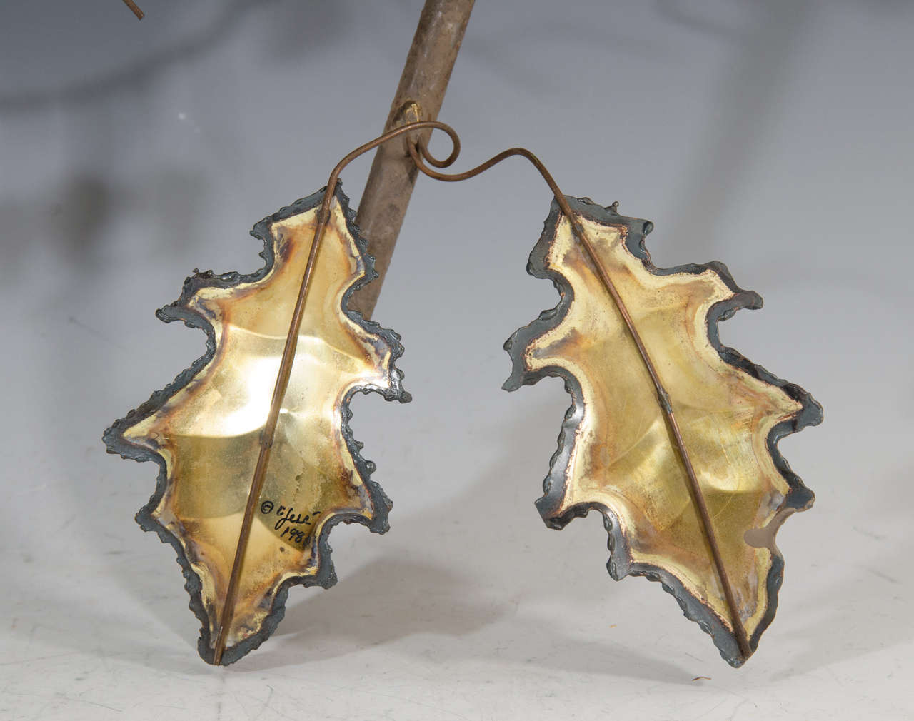 Midcentury Curtis Jere Wall Sculpture of Leaves 5