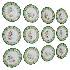Vintage Set of Twelve Hand-Painted Tiffany & Co. Plates by Camille Le Tallec