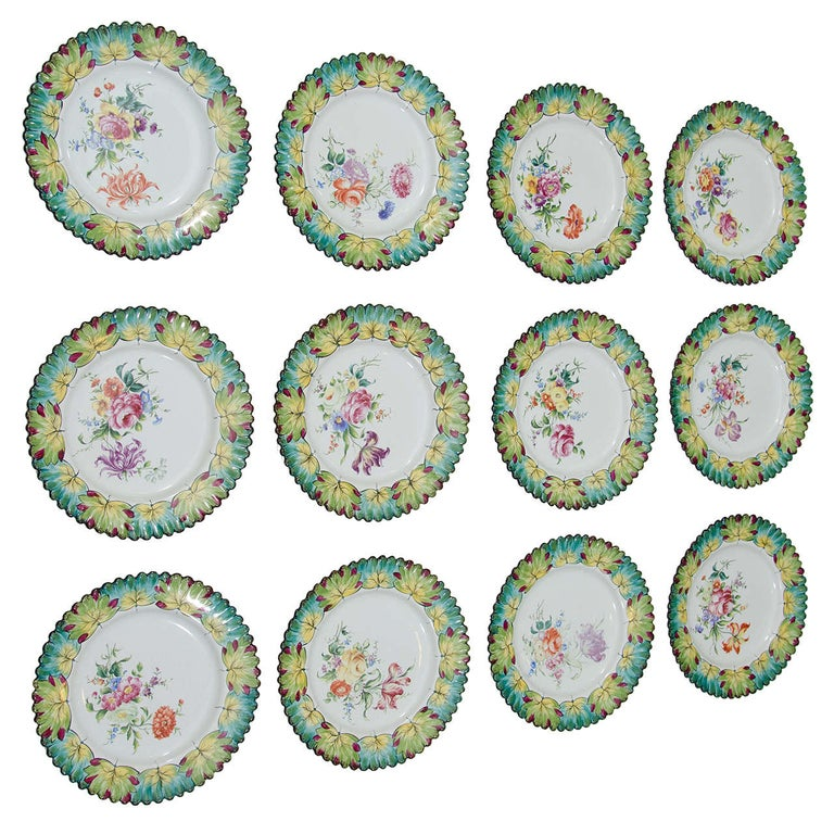 Vintage Set of Twelve Hand-Painted Tiffany & Co. Plates by Camille Le Tallec For Sale