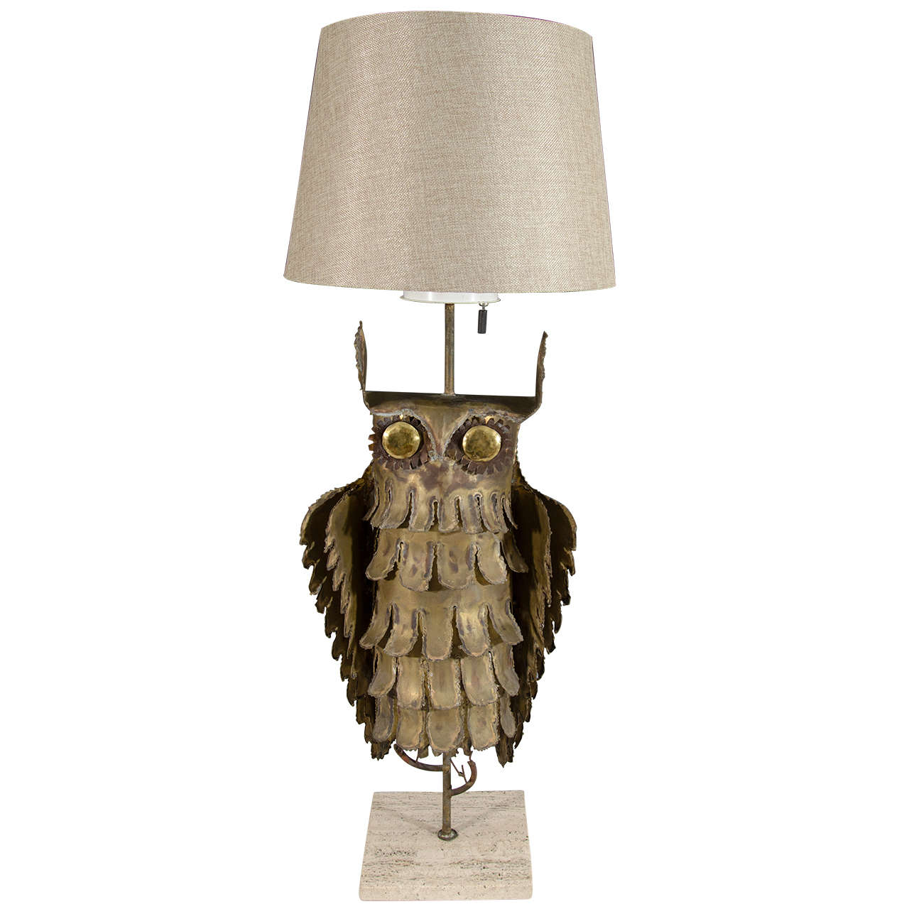 Vintage owl lamps - Abstract Brutalist Owl Table Lamp By Curtis Jere At 1stdibs