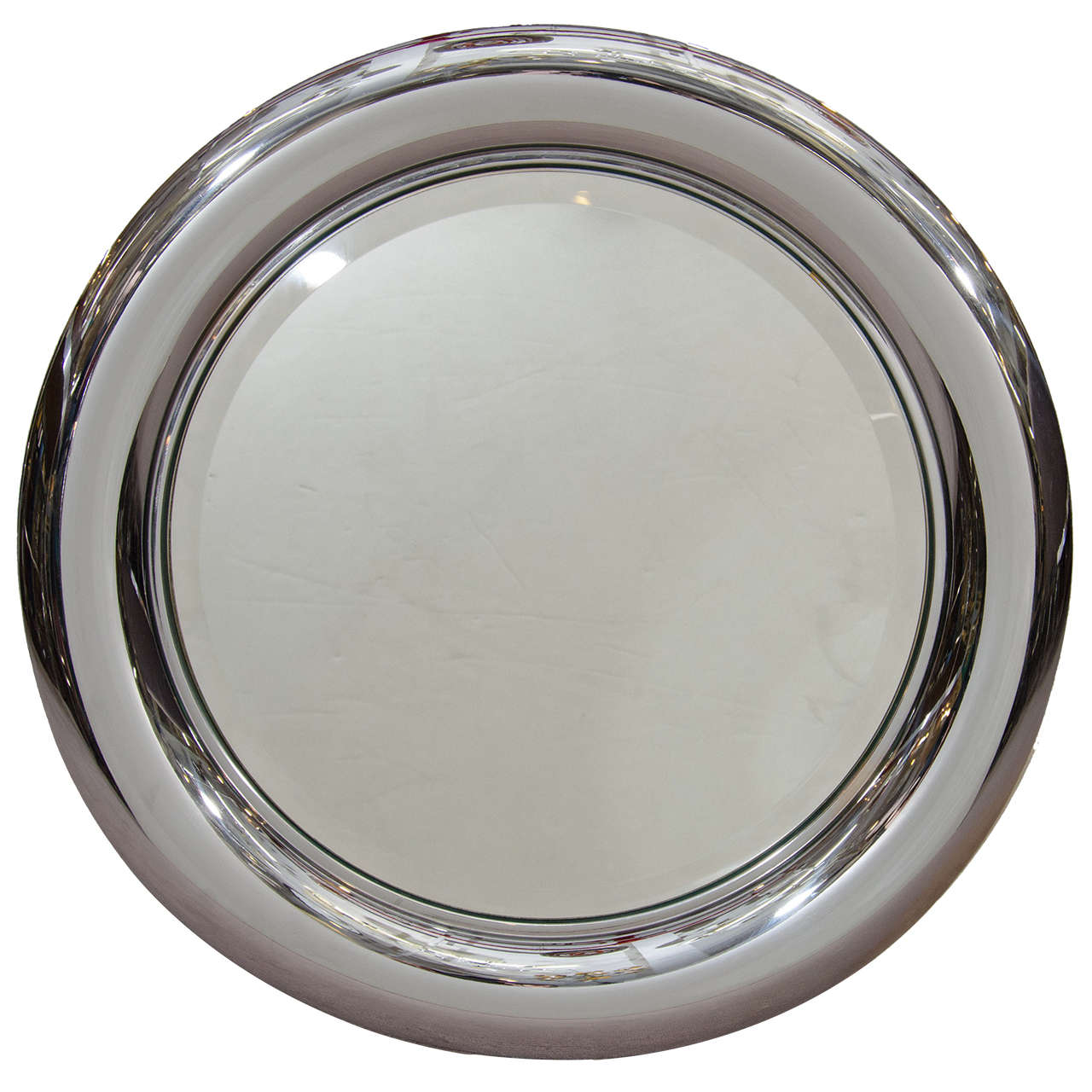 mid century italian chrome framed wall mirror by regianni 1
