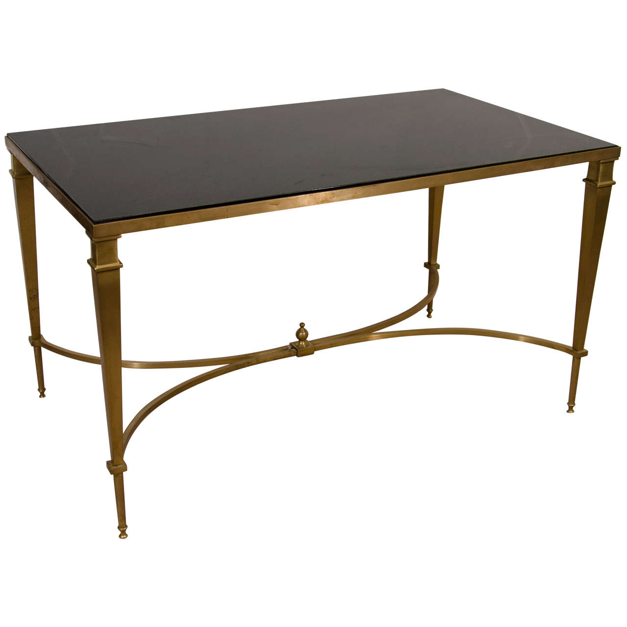 Mid Century Bronze And Granite Top Coffee Or Cocktail Table At 1stdibs