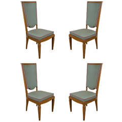 Art Deco Set of Four Dining Chairs in the Style of Andre Arbus