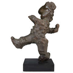 20th Century Bronze Sculpture, Signed