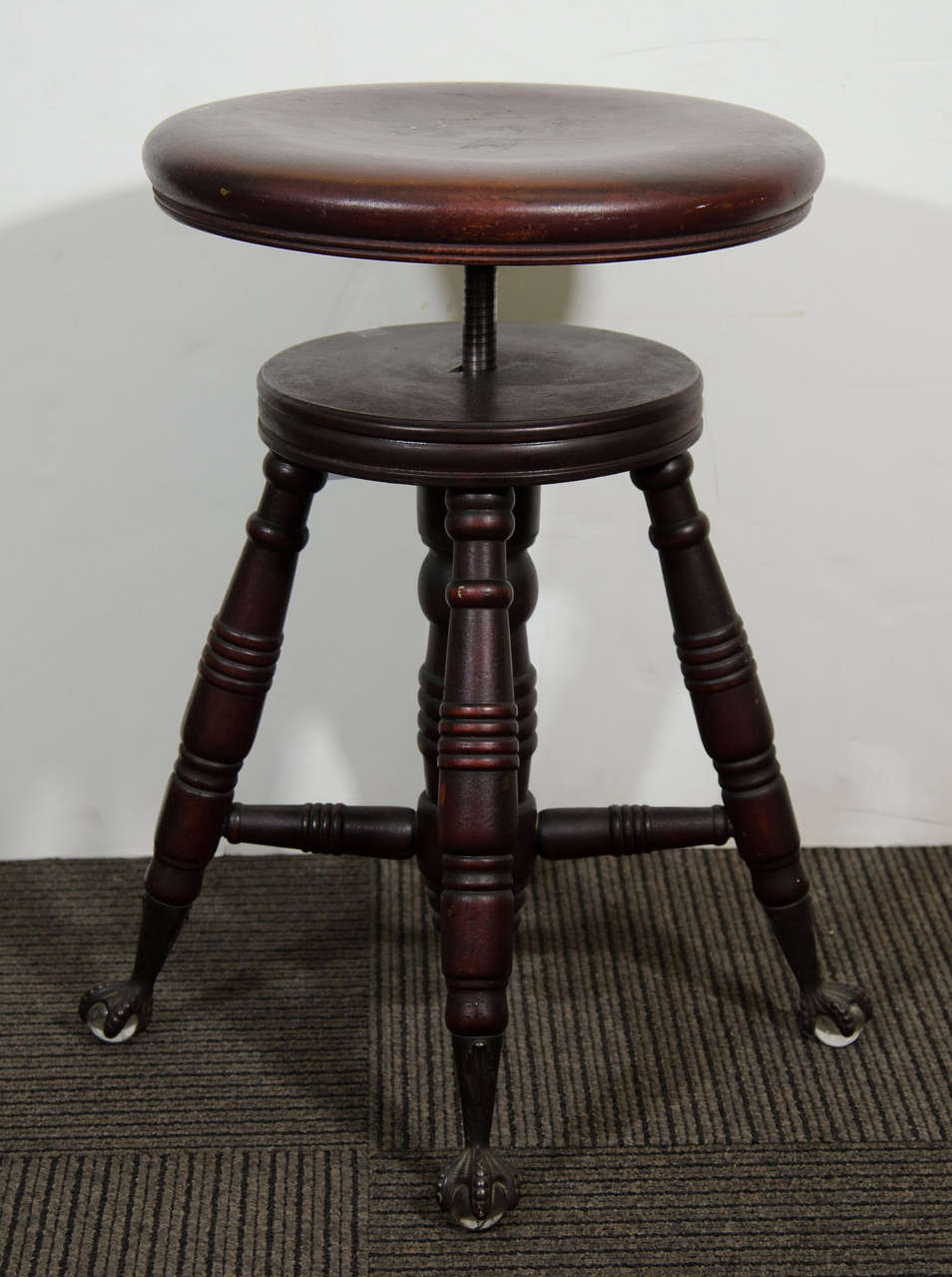 Antique Mahogany Turned Wood Adjustable Piano Stool 3 & Antique Mahogany Turned Wood Adjustable Piano Stool at 1stdibs islam-shia.org