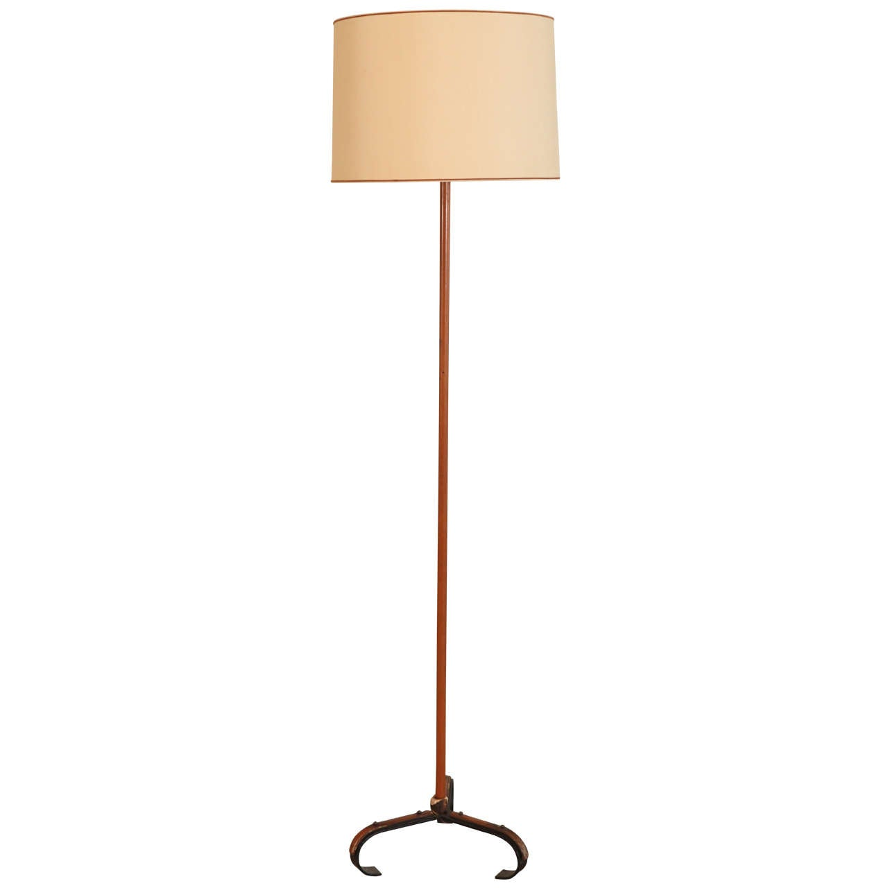 Jacques Adnet Leather Bound Floor Lamp