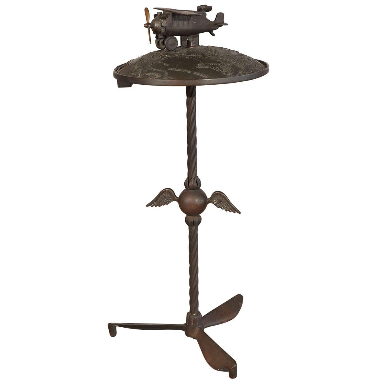 Cast Metal Aeronautical Smoking Stand
