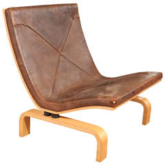 Poul Kjaerholm & E Kold Christensen 'PK27' Leather Chair