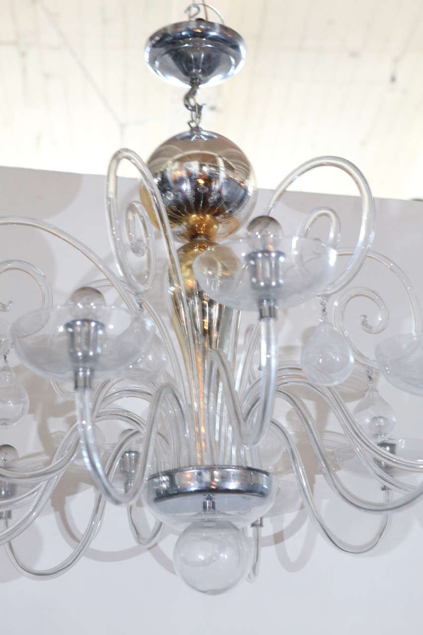 Venini blown glass chandelier for sale at 1stdibs Blown glass chandelier