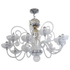 Venini Blown Glass Chandelier
