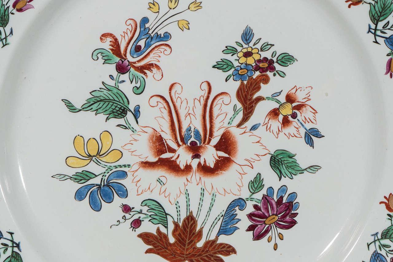 Antike Italienische Porzellanteller aus dem 18. Jahrhundert 4