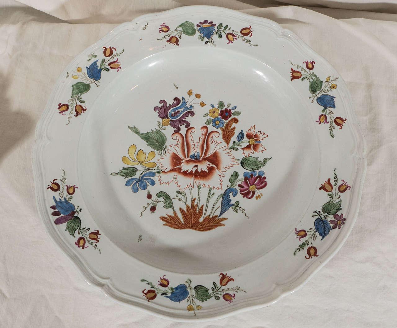 Antike Italienische Porzellanteller aus dem 18. Jahrhundert 8