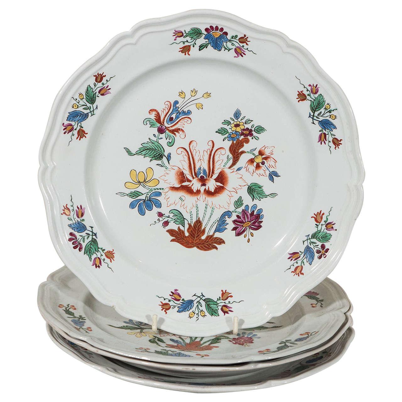 Antike Italienische Porzellanteller aus dem 18. Jahrhundert 1