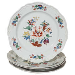 Dozen Antique Italian Porcelain Dishes from the 18th Century