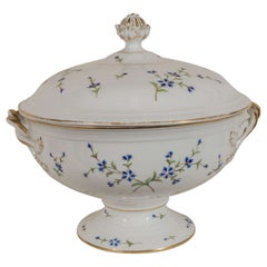 Antique Royal Copenhagen Porcelain Soup Tureen Made in Denmark circa 1850