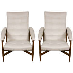 Pair of Large Cassina Lounge Chairs