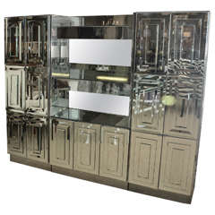 Spectacular Mid-Century Mirrored Dry Bar by Ello