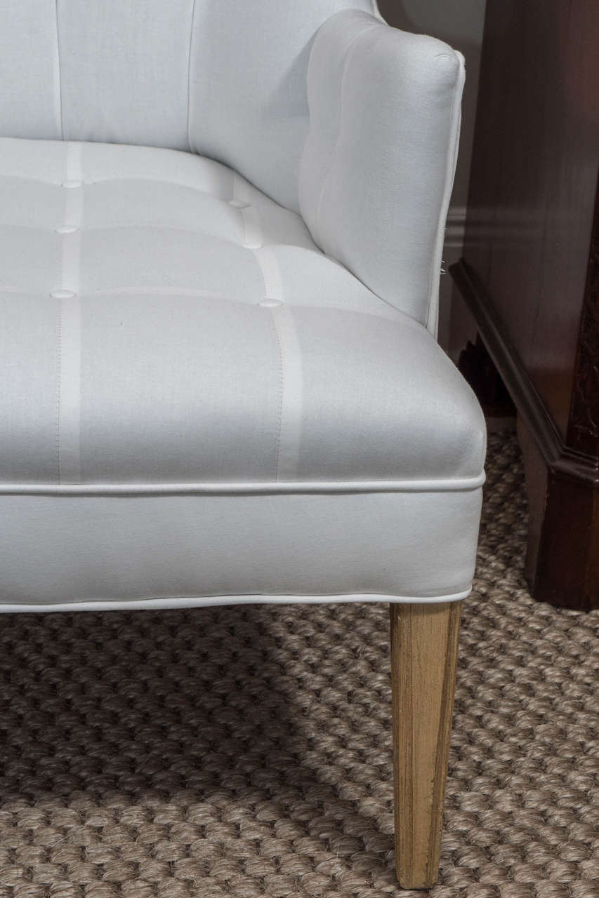 Pair Of Upholstered Quot His And Her Quot Chairs At 1stdibs