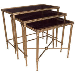 Set of Three French Nesting Tables