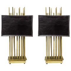 Very Nice Pair of Brass Lamps