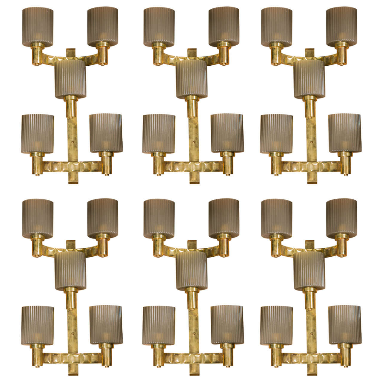 Set of Six Sconces.        2 available !