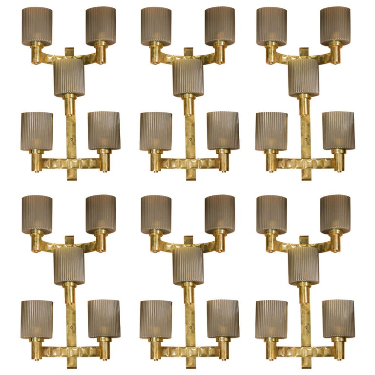 Set of Six Sconces.        2 available ! For Sale