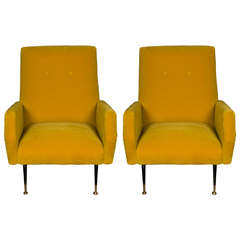 Pair of Armchairs in the Style of Marco Zanuso