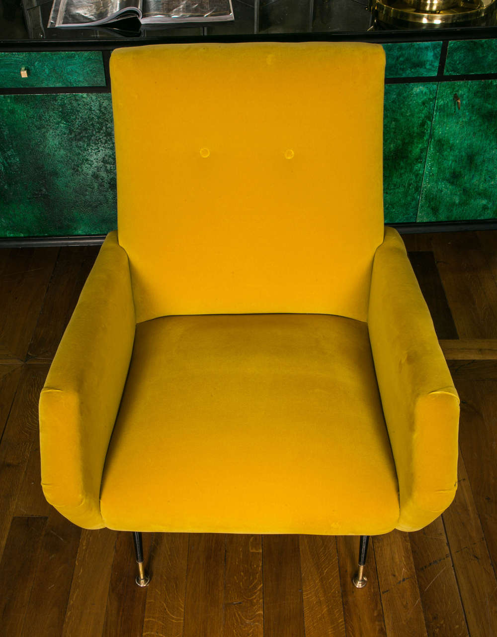 Mid-Century Modern Pair of Armchairs in the Style of Marco Zanuso For Sale
