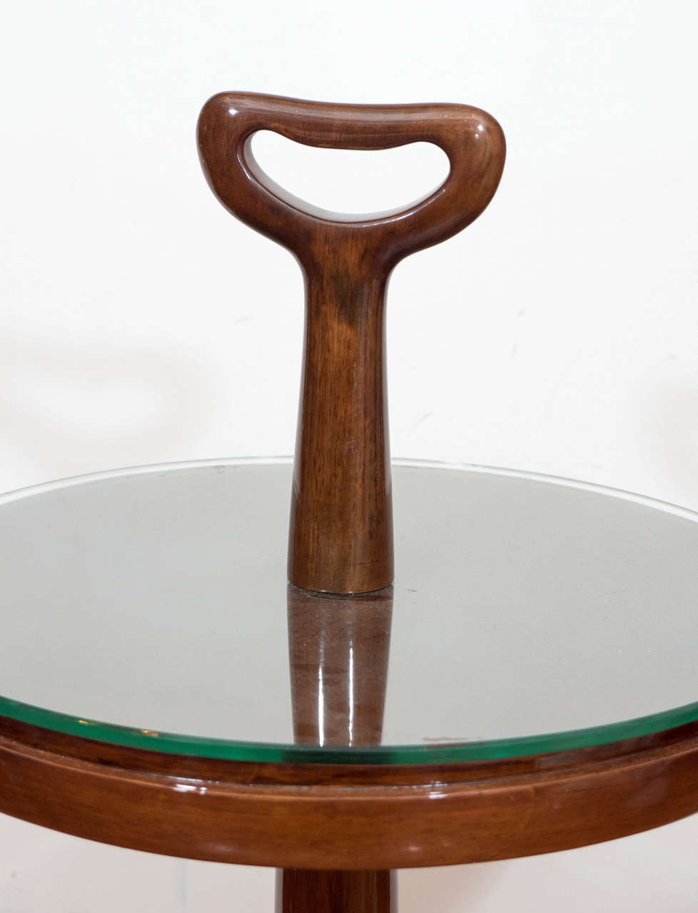 Italian Lacquered Wood Table with Handle For Sale