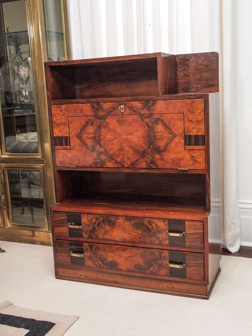 French s inlaid fall front desk for sale at stdibs