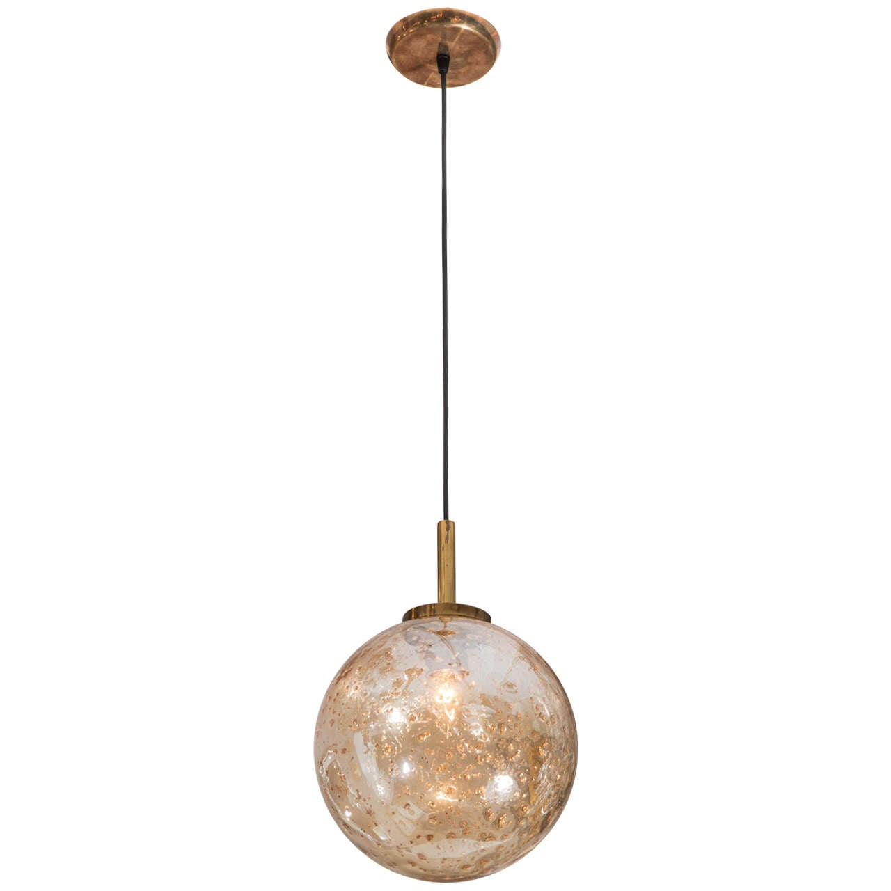 this venetian glass gold flake mouth blown sphere light pendant is no. Black Bedroom Furniture Sets. Home Design Ideas
