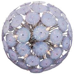 Iridescent Murano Glass Disc Sputnik Chandelier