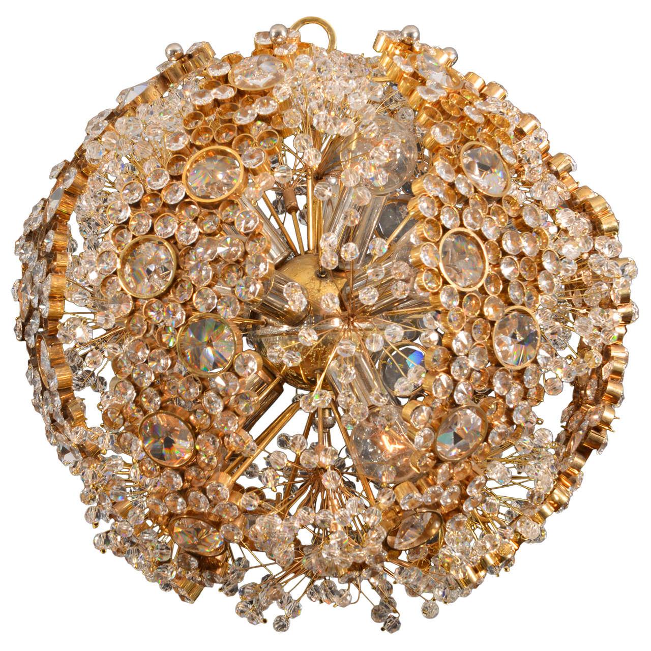 Palwa 1960s crystal ball chandelier at 1stdibs palwa 1960s crystal ball chandelier for sale arubaitofo Images