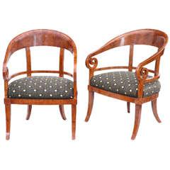 Pair of Excellent Biedermeier Armchairs