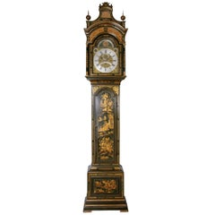 18th Century Antique George III Lacquered Longcase Clock, John Monkhouse, London