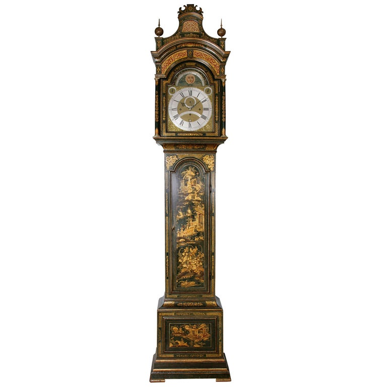 George III Lacquered Longcase Clock by John Monkhouse, London For Sale