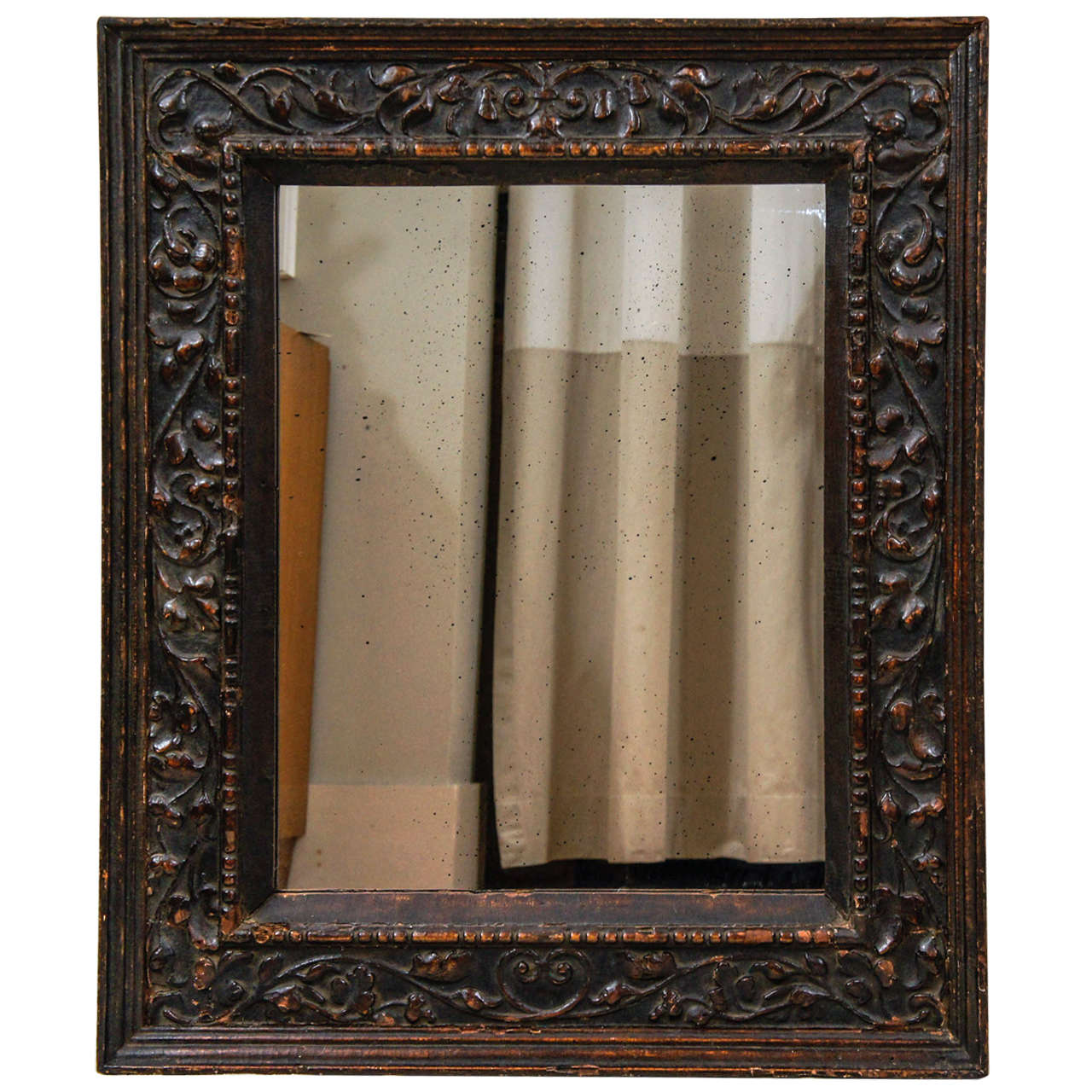 18th Century Italian Carved Wood Mirror Frame at 1stdibs