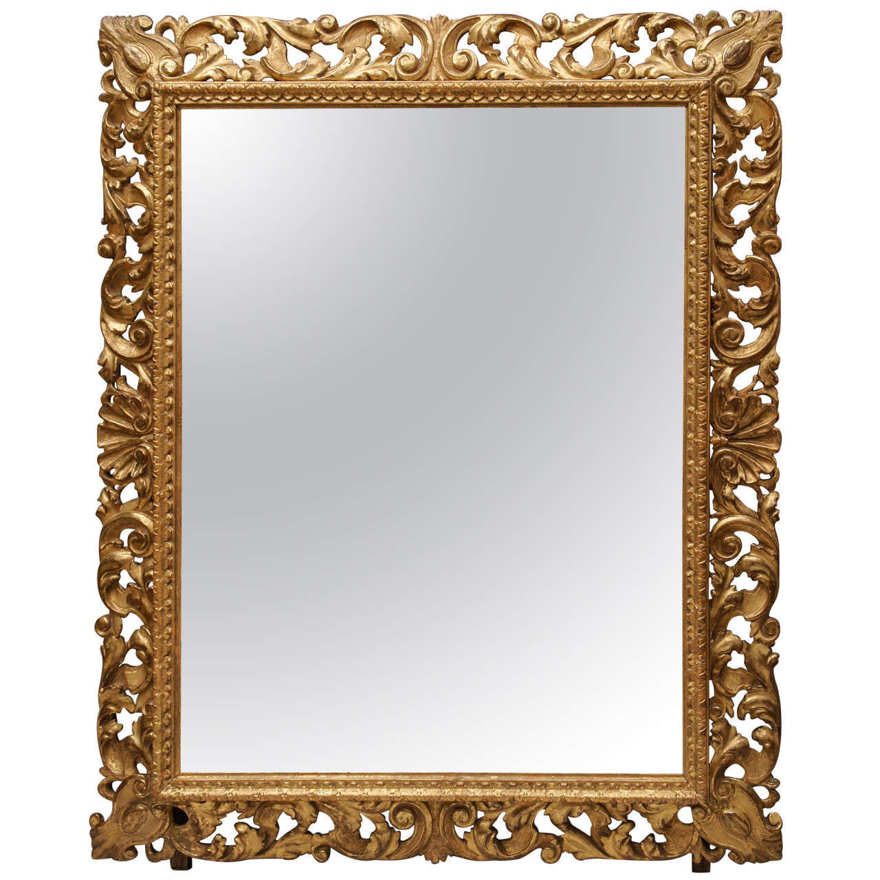 florentine style carved gilt wood frame mirror at 1stdibs